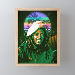 BobMarley retro art Framed Mini Art Print