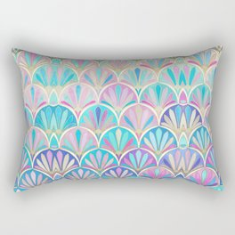 Glamorous Twenties Art Deco Pastel Pattern Rectangular Pillow