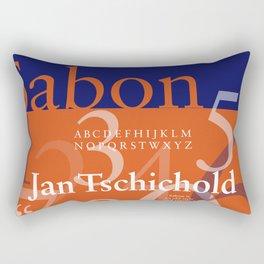 Sabon Typography Poster Rectangular Pillow