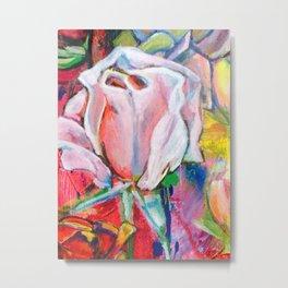 Pink Rose by Toni Wright Metal Print