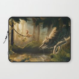 Want a Nut? (Wolf and Squirrel) Laptop Sleeve