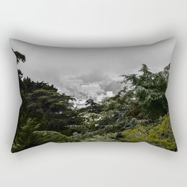 The Cove - Fog through trees in San Francisco Rectangular Pillow