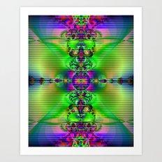 Abstract Fractal Fantasy 3 Art Print