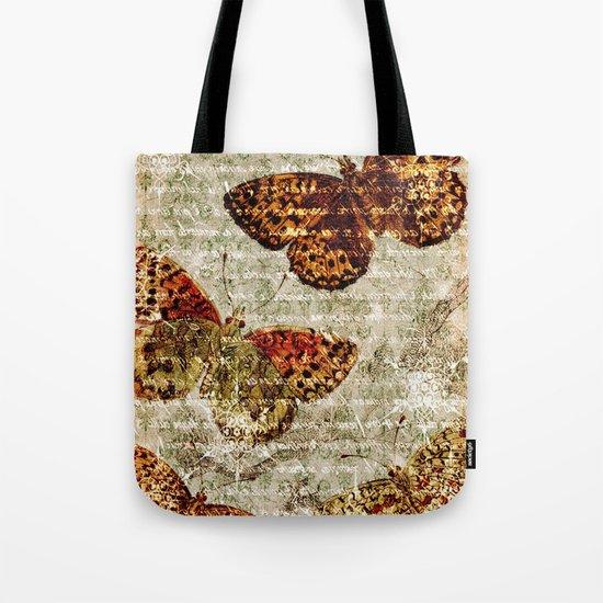 Vintage Butterflies 01 Tote Bag
