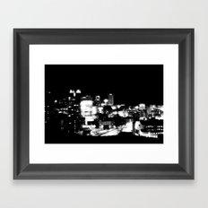 Boston at Night Framed Art Print