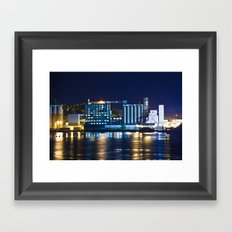 Alton, Illinois Mississippi River Factory Framed Art Print