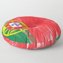 Portugal's Flag Design Floor Pillow