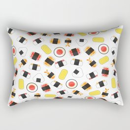 All About Sushi Pattern Art White Rectangular Pillow
