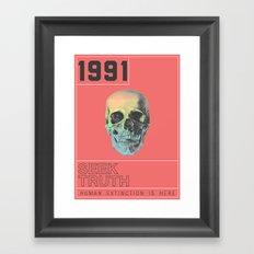 HUMAN EXTINCTION Framed Art Print