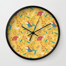 Fall vibes Wall Clock
