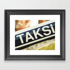 Taksi Framed Art Print