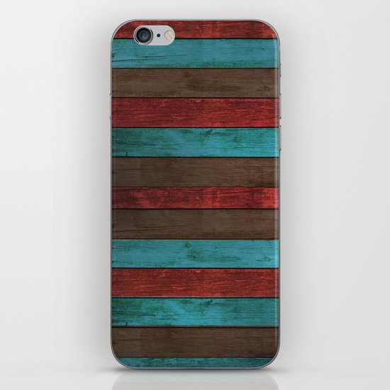 Old color wooden iPhone & iPod Skin