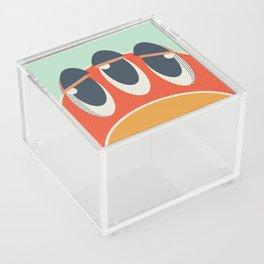 Cute Monster coaster Acrylic Box