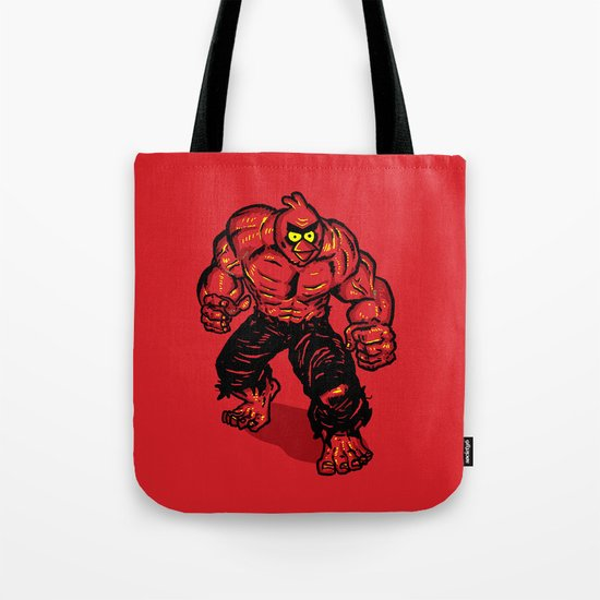 Angry Bird hulk Red Tote Bag