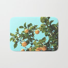 Summer Orange Tree Bath Mat