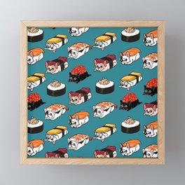 Sushi Frenchie Framed Mini Art Print