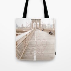 New York romantic typography vintage photography Tote Bag