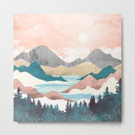 Lake Sunrise Metal Print