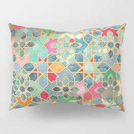 Gilt & Glory - Colorful Moroccan Mosaic Pillow Sham