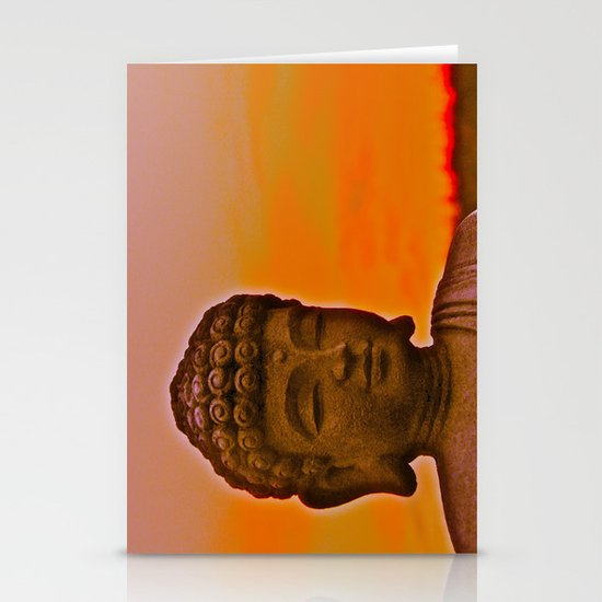 Buddha's Peaceful Sunset Stationery Cards