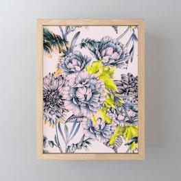 Flowering blooming in pink Framed Mini Art Print
