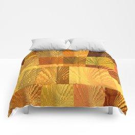 Abstract Digital Artwork Golden State Comforters
