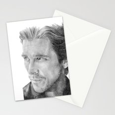 Christian Bale Traditional Portrait Print Stationery Cards