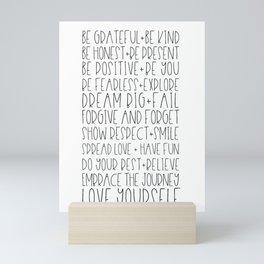 Family Reminders + Values Mini Art Print