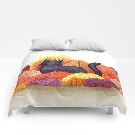 Autumn Forest Black Cat Comforters