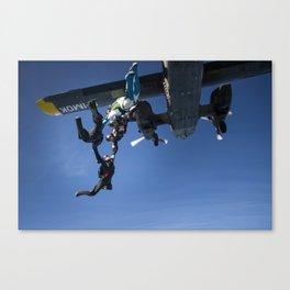 Exiting a Plane Canvas Print