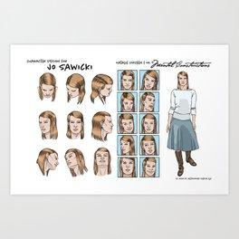 Jo Sawicki character design Art Print