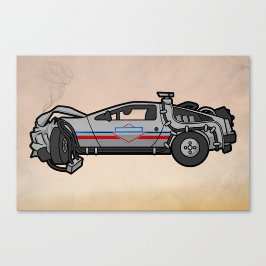 licensed to hill valley. Canvas Print