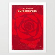 No313 My American Beauty minimal movie poster Art Print