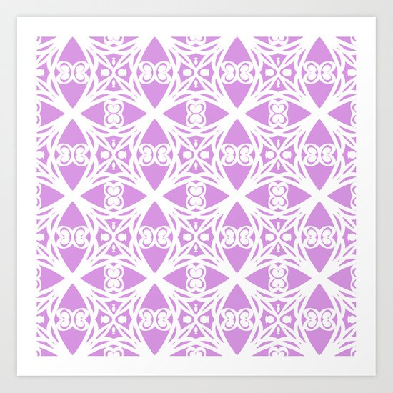 Charisma in Lavender Art Print