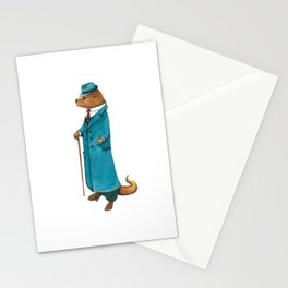 Otter in suit Stationery Cards