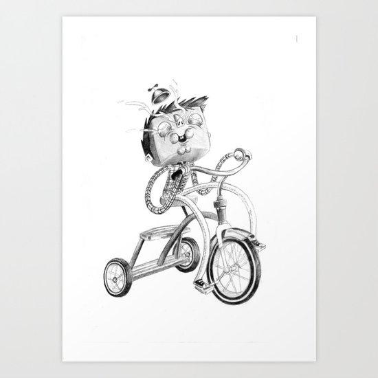 Ugly Kids - Bicycle Art Print
