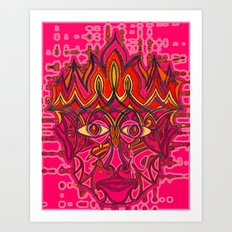 Fire God Art Print