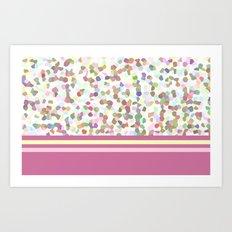 Lots of Dots with Mauve Art Print