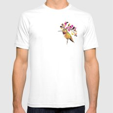 Humming Bird Hairstyle Mens Fitted Tee White SMALL