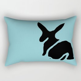 Rabbit Stamp Rectangular Pillow