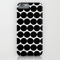 Black & White Polka Spots Slim Case iPhone 6s