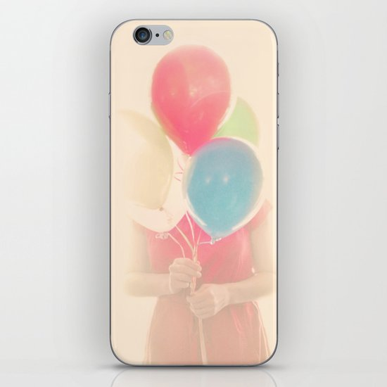 Balloon Girl iPhone & iPod Skin