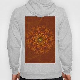 Mandala Sunlight Orange Pattern Hoody
