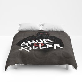 Grub Killer (Red) Comforters