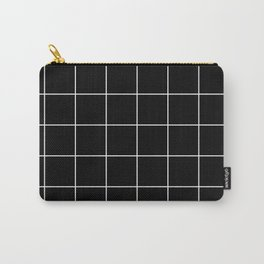 Citymap Grid - Black/White Carry-All Pouch