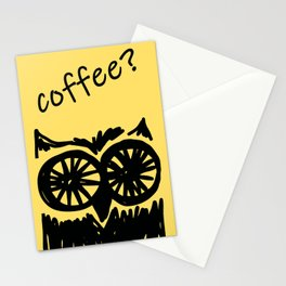 Coffee? Morning owl print, good morning to all coffee lovers  Stationery Cards