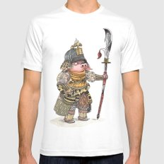 Cochon Samouraï White Mens Fitted Tee LARGE