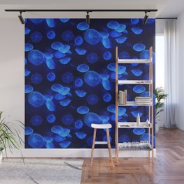 Bue Jellyfish Wall Mural