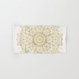Moroccan Mandala – Gold Palette Hand & Bath Towel