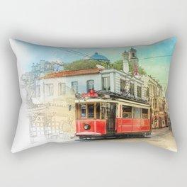 Old tram in Istanbul Rectangular Pillow